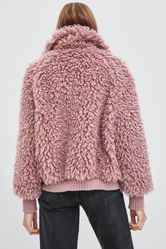Image 8 of FAUX SHEARLING BOMBER JACKET from Zara 7f645e0a00