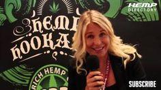 Katarina Maloney discussing Hookahzz CBD hemp products at the VaporFair / HookahFair / Shisha-Messe, celebrating its second anniversary 2014 in Frankfurt, Germany.