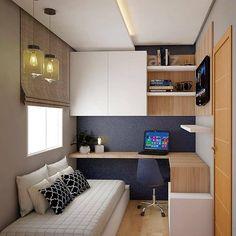 Small room design – Home Decor Interior Designs Tiny Bedroom Design, Home Room Design, Home Office Design, Home Office Decor, Home Interior Design, Home Decor, Office Ideas, Study Room Design, Office Designs