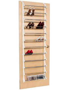 Shoes always seem to take over the floor space, making a mess in your closet. This over-the-door shoe rack will get them off the ground and out of the way, not to mention keep them in easy-to-access sets. Holding up to 36 pairs, the rack  - WomansDay.com