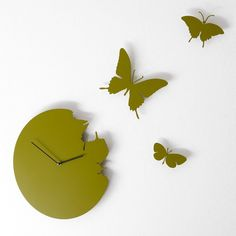 Butterfly Wall Clock by Diamantini & Domeniconi #AssortedColors, #Butterfly, #Clock, #Wall