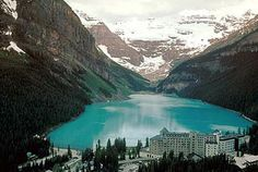 Lake Louise, Alberta. Absolutely stunning! Great place to stop on your way to Banff, Canmore or Calgary.