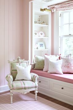 love plaid chair ...Girl's Room · Green Walls · Pink Design, Pictures, Remodel, Decor and Ideas - page 2