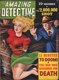 Amazing Detective Cases, November 1942. (Cover art by Cardwell Higgins)