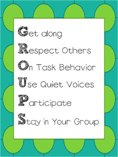 What are your expectations for students when working in pairs or groups? good management needs to be in place FIRST -You can make up your own -- teach this before working in groups! Post in the room and refer to it often! For small group instruction Classroom Behavior, Classroom Posters, Future Classroom, School Classroom, Classroom Expectations, School Kit, Classroom Procedures, School Ideas, Classroom Ideas