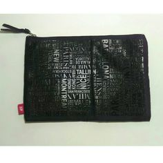 H&M Black Printed Pouch H&M Pouch. Zipper Closure. 2 Pockets Inside. Pattern is Black Printed on Black, Most Noticeable When Light Hits It. Dimensions: 10 inches by 7 inches. H&M Bags Cosmetic Bags & Cases