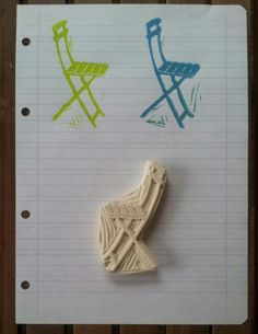 Folding bistro chair stamp