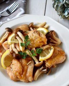 さっぱりコクうま♪【鶏肉ときのこのレモンバター醤油ソース】 レシピブログ
