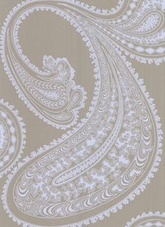Paisley Wallpaper in Taupe
