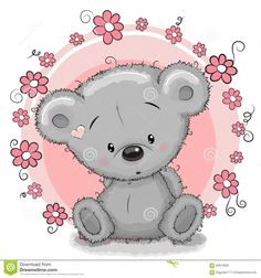 Bear With Flowers - Download From Over 41 Million High Quality Stock Photos, Images, Vectors. Sign up for FREE today. Image: 60813859