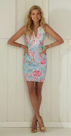Lilly Pulitzer Gabby Shift Dress in Jellies Be Jammin $188