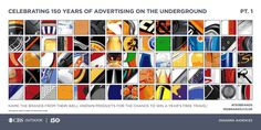 Can you work out the 150 brands who have advertised on the Underground? London Underground, Free Travel, Identity, Tube, Advertising, Challenge, Puzzle, Poster, Outdoor