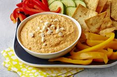 Need an easy (yet impressive) appetizer for your next social event?  Our Spicy Roasted Red Pepper & Feta Dip is just what you need to get the party started!