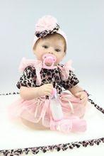 55 cm New Silicone Renascer Baby Doll Brinquedos Lifelike Bonecas Artesanais Bebê Com Bico Do Peito Do Bebê Boneca Casa Com Mohair Jogar casa(China (Mainland))
