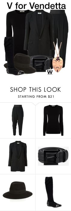 """""""V For Vendetta"""" by wearwhatyouwatch ❤ liked on Polyvore featuring STELLA McCARTNEY, Oasis, Yves Saint Laurent, Y-3, Maison Michel, Chelsea Crew, wearwhatyouwatch and film"""