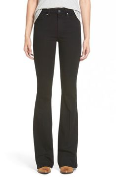 Paige Denim 'Bell Canyon' High Rise Flare Jeans (Black Shadow) available at #Nordstrom