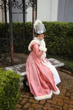 The Couture Courtesan: NOLA 1815: Fox Fur and Pink Silk Pelisse