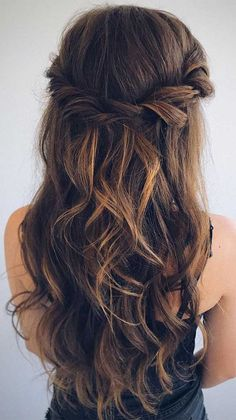 half up half down hairstyles , partial updo hairstyle , half up half down hairstyles wedding, wedding half up half down Chic Hairstyles, Wedding Hairstyles For Long Hair, Bride Hairstyles, Beautiful Hairstyles, Half Up Half Down Wedding Hair, Bridesmaid Hairstyles Half Up Half Down, Hairstyles For Bridesmaids, Half Up Half Down Hairstyles, Wedding Hairstyles For Medium Hair