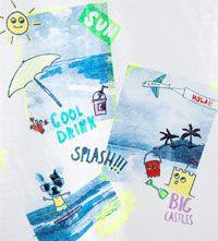 Image 5 of Beach print T-shirt from Zara