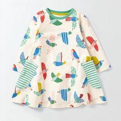 Victory! Check out my new Lovely Bird Print Pocket Dress for Toddler Girl and Girl, snagged at a crazy discounted price with the PatPat app.