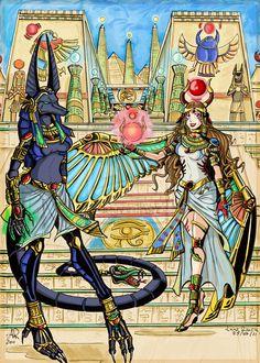 My OC in Anubis and Hathor :)