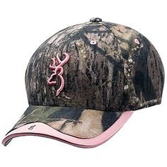 a469075558540 Mossy Oak Camo Browning Cap with Pink Accents