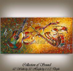 Música ORIGINAL de jazz arte venta de por ContemporaryArtDaily