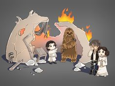 Chewie Babysitter by AngelofDeathz on DeviantArt