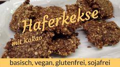 LichtRaum Wettengel: Schoko-Haferkekse - einfach, schnell, basisch, veg... Kakao, Almond, Vegan, Desserts, Food, Oat Cookies, Healthy Food, Glutenfree, Simple