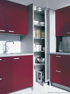 I can't fit a 4' corner pantry in our plan, but I could possibly do a full height 3' corner cabinet. Has anyone used one of these? Are they a pleasure, or something else all together? by Shelf Genie This looked interesting, too: Any thoughts?