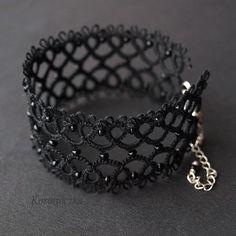 braccialetto in chiacchierino - bracelet, tatting