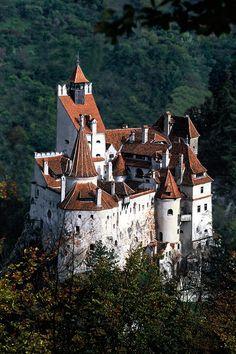 "Bran Castle in Romania...aka ""Dracula's Castle."""