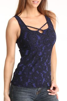 Arianne Angela Camisole In Blue And Black