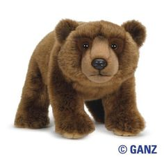 WEBKINZ SIGNATURE BROWN BEAR NEW WITH TAG AND SEALED CODE