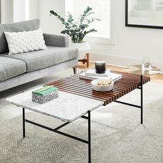 Eclipse Coffee Table | west elm United Kingdom Small Furniture, Living Room Furniture, Home Furniture, Modern Furniture, Small Coffee Table, Coffee Tables, Drink Table, Wood Slats, Center Table