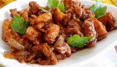 Surinaams eten – Ketjap Pinda Kip (kip in ketjap verrijkt met Kotomisi pinda sambel)