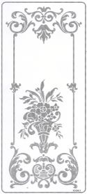 Rectangle Door Stencil Pattern -FL1, Texas etched glass, san antonio etched glass, austin etched glass