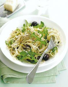 spaghettis aux artichaut, au citron et au parmesan Risotto, Spaghetti, Japchae, Parmesan, Pasta, Ethnic Recipes, Food, Gnocchi, Menu