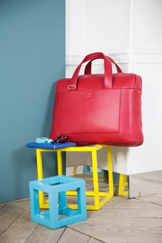PERNETY #leather #bag by DELSEY #gift #red