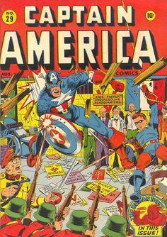 Captain America Comics # 29 by Alex Schomburg ...