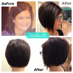Studio D  Stacked A Line Bob Haircut