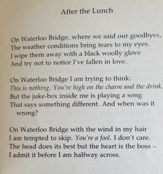One of my first Wendy Cope poem discoveries.  Love it!