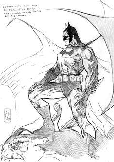 Batman Hush 21 | Studies based Jim Lee work