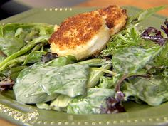 Salad with Warm Goat Cheese recipe from Ina Garten via Food Network