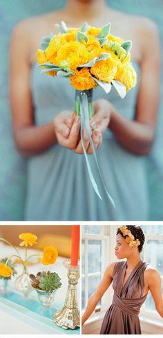 yellow wedding bouquet, Photo: Amelia Johnson Photography