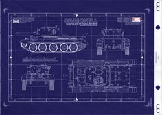 Tiger blueprint google search tigers pinterest british cromwell cruiser tank this is a real blueprint made directly from vellum masters delivered to you on a full size master sheet malvernweather Image collections
