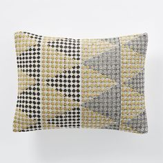 "West Elm Margo Selby Dots Pillow Cover in Horseradish - 16""l x 12""h - $14.99"