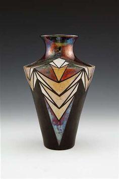 Shouldered Raku Vase