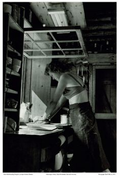 julia child kneads dough at open kitchen window photo by paul child