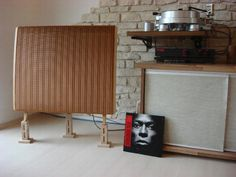 QUAD ESL 57. Famous electrostatic loudspeakers. You had to hear these, folks.
